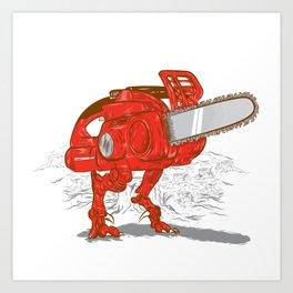 Chainsawrus Art Print