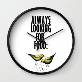 Feed me! Wall Clock