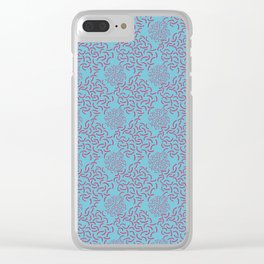 Neo Memphis Coordinate Blue Pink Clear iPhone Case