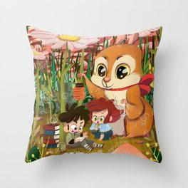 Little Story 01 : Chibi Tale Throw Pillow