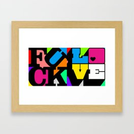 Fuck/Love Framed Art Print