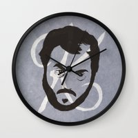 kubrick Wall Clocks featuring K is for Kubrick by Albert Blanchet