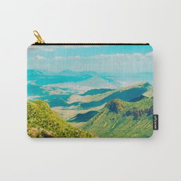 Vintage Pastel 1950's Style Mountain Range Green Valley With blue Sky Carry-All Pouch