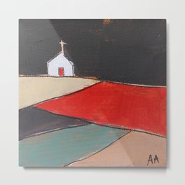 Church on a Hill Metal Print