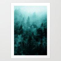 fractal Art Prints featuring Fractal Forest by Klara Acel