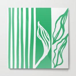 Long Leaf Stripe green Metal Print