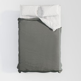 Best Seller Dark Muted Green Grey Solid Color Inspired by Jolie Paint 2020 Color of the Year Legacy Duvet Cover