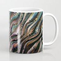 novelty Mugs featuring Turbulence by Moody Muse