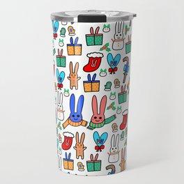 A Very Bunny Christmas Travel Mug