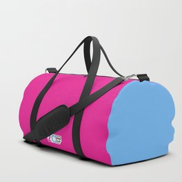 2C - pink and blue Duffle Bag
