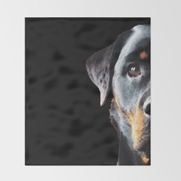 Rottie Love - Rottweiler Art By Sharon Cummings Throw Blanket