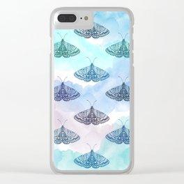 Rainbow Moths Clear iPhone Case