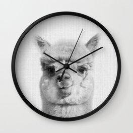 Alpaca headshot Wall Clock