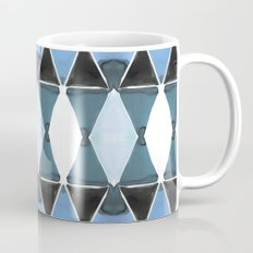 Art Deco Triangles Light Blue Coffee Mug