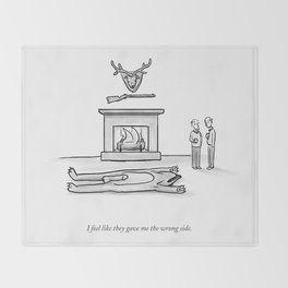 The Wrong Side Throw Blanket