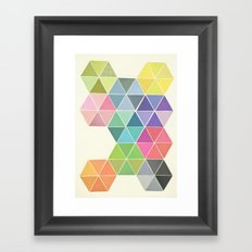 Fragmented Framed Art Print