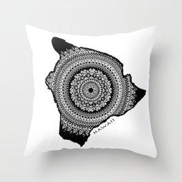 The Big Island of Hawaii [Tribal Illustration] Throw Pillow