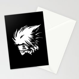 White Anime Hero Character Stationery Cards