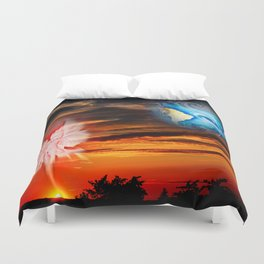 Mystical world,  heavenly apparition Duvet Cover