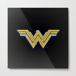 wonderwoman symbol justiceleague surperhero Metal Print