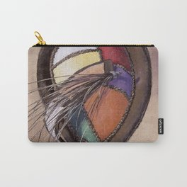 Color Festival — Vintage Hat Painting Carry-All Pouch