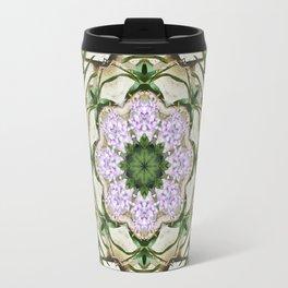 Orchids And Stone Wall Kaleidoscope 1764 Travel Mug