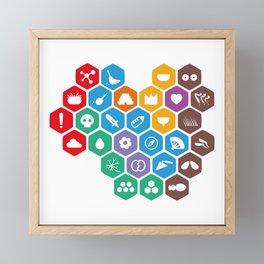 Periodic Table of Beekeeping Framed Mini Art Print