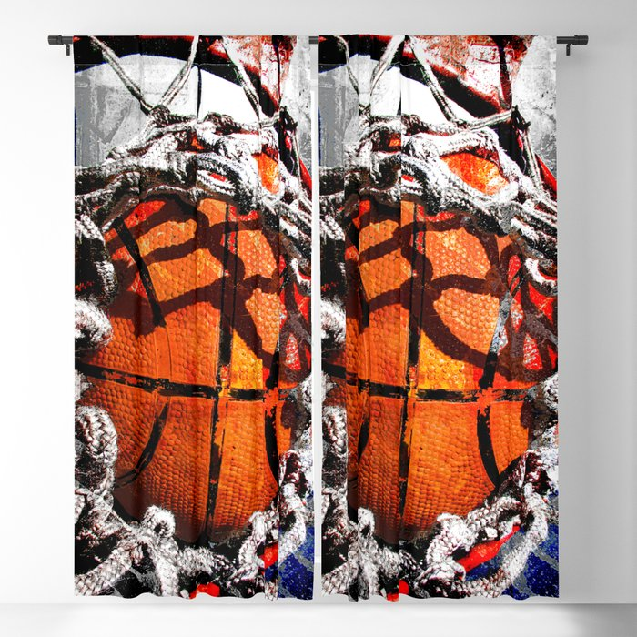 Basketball art swoosh vs 35 Blackout Curtain
