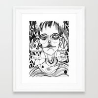 dave matthews Framed Art Prints featuring dave by Valeria Pomidoro