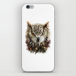 Owl Face Grunge iPhone Skin