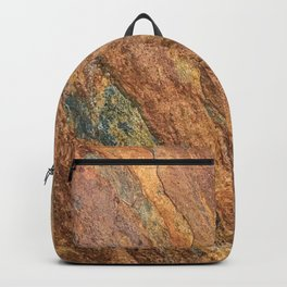 Rusty Latte // Orange Redish Stone Diagonal Texture Autumn Color Profile Backpack