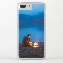 Camp on North Sea Island Clear iPhone Case