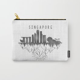 Singapore skyline // urban jungle // black & white // minimalist Carry-All Pouch