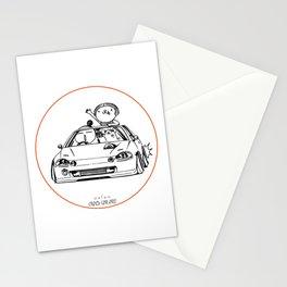 Crazy Car Art 0202 Stationery Cards