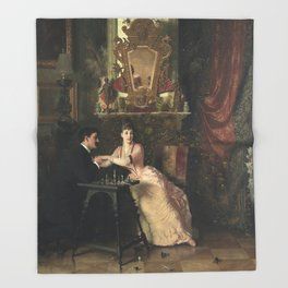 The Proposal Oil Painting by Knut Ekwall Throw Blanket