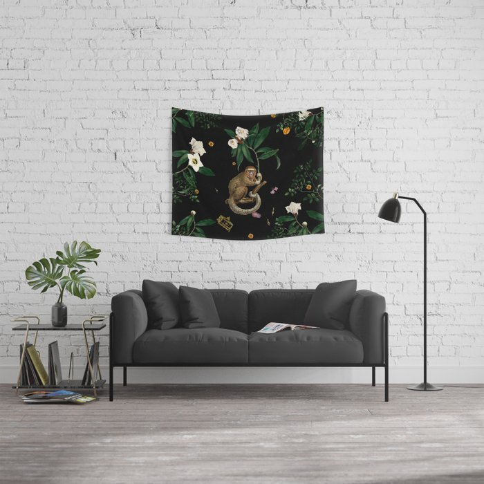 Monkey World: Amber-Ella Wall Tapestry