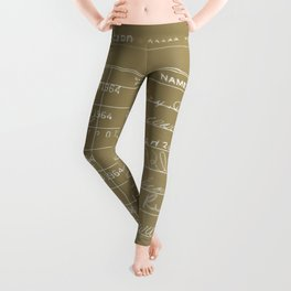 Library Card 23322 Negative Brown Leggings