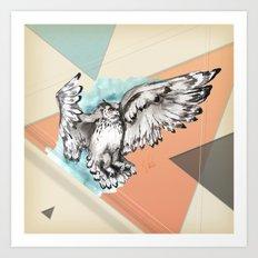 Owl McFly by carographic Art Print