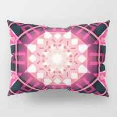 Pink Glow Geometric Mandala Pillow Sham