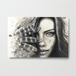 Freckly Metal Print