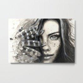 Freckly Metal Print