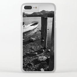 rowing boats on derwentwater Clear iPhone Case