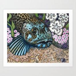 Lingcod Art Print