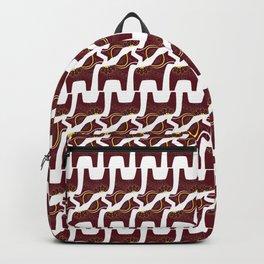 Red Dala Horse Pattern Backpack