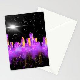 Houston Skyline Fantasy Stationery Cards