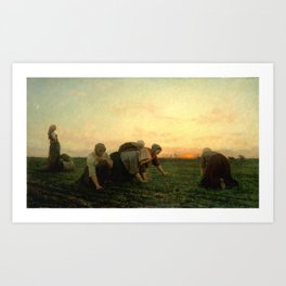 Jules Breton - The Weeders Art Print