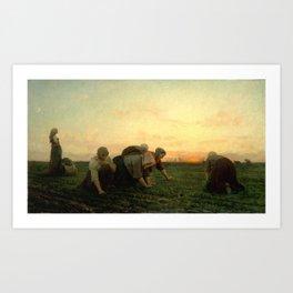 Jules Breton - The Weeders Art Print