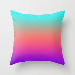Sunset shades on the sea Throw Pillow