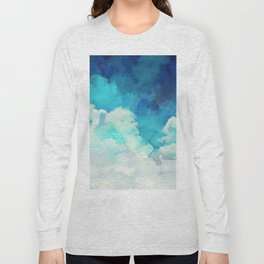 Absract Watercolor Clouds Long Sleeve T-shirt