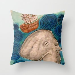 Call Me Ishmael Throw Pillow